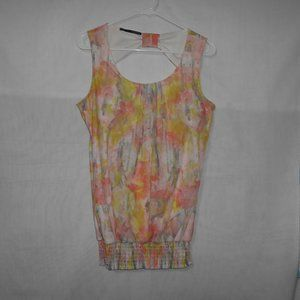 Maurices Knit Tank Sleeveless Top Size M White